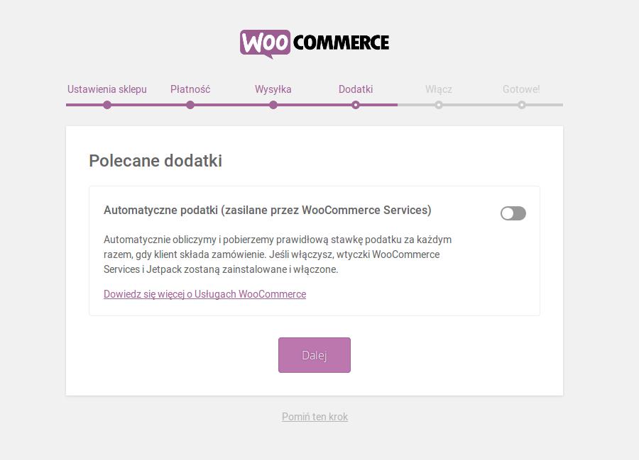 Instalacja WooCommerce - instalacja dodatków