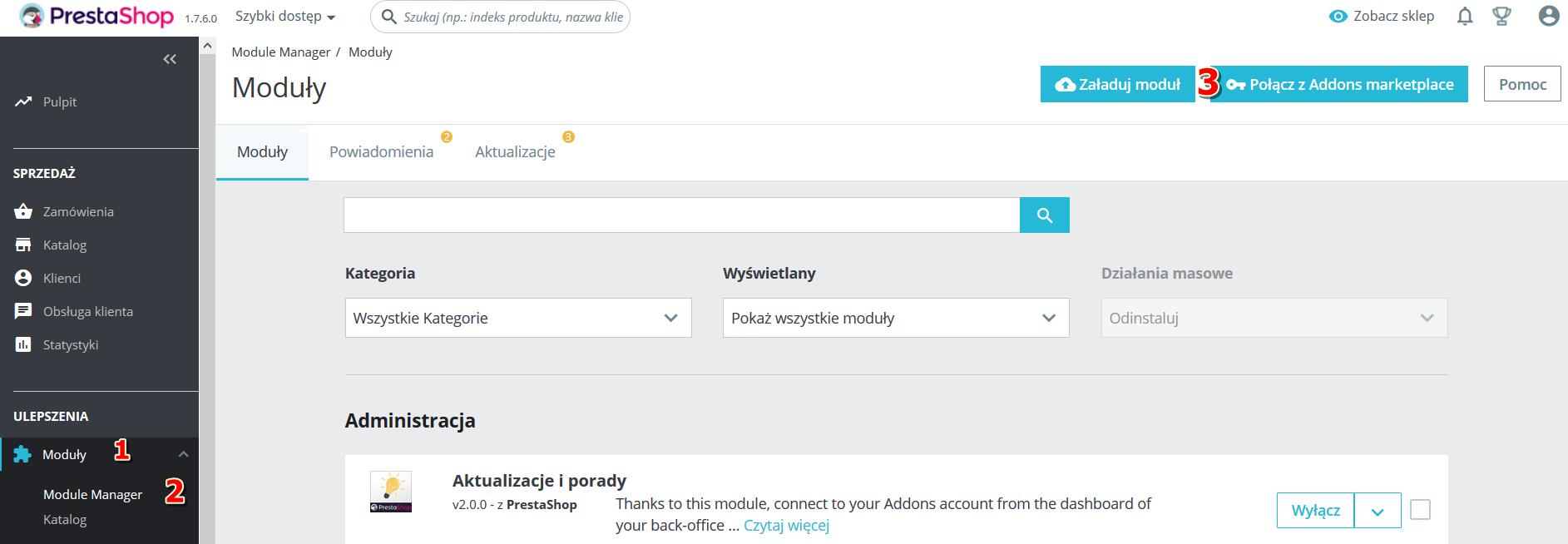 Proces instalacji wtyczki HotPay do systemu PrestaShop